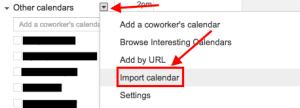 import-calendar